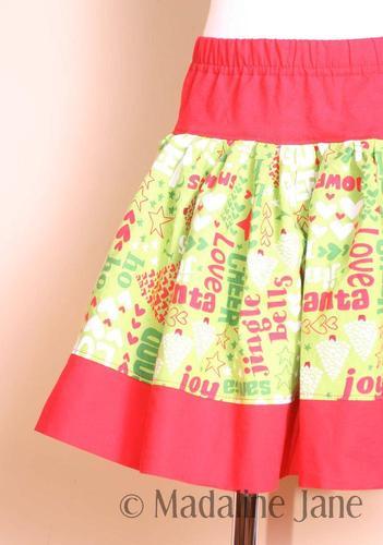 Holly Jolly Christmas Skirt Sz 3