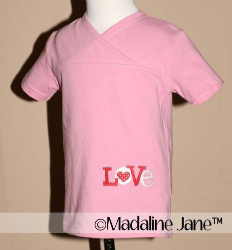 Love is... A Love & Hearts Mock Cross Top Sz 3t by Madaline Jane