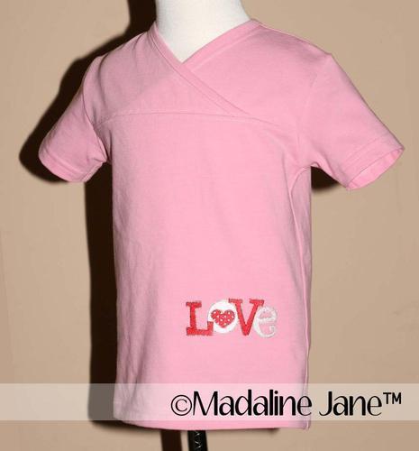 Love is... A Love & Hearts Mock Cross Top Sz 3t by Madaline Jane