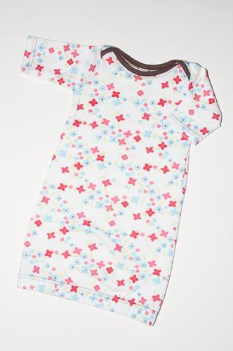 Flower Infant Gown Sz Newborn